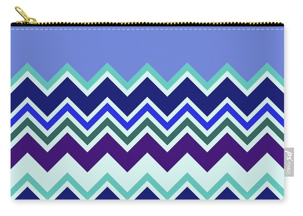 Chevron Lavender Turquoise Blue Purple Zigzag Pattern Carry-all Pouch