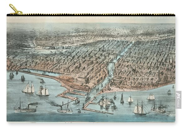 Chicago As It Was 1872 Carry-all Pouch