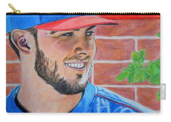 Chicago Cubs Kris Bryant Portrait Carry-all Pouch