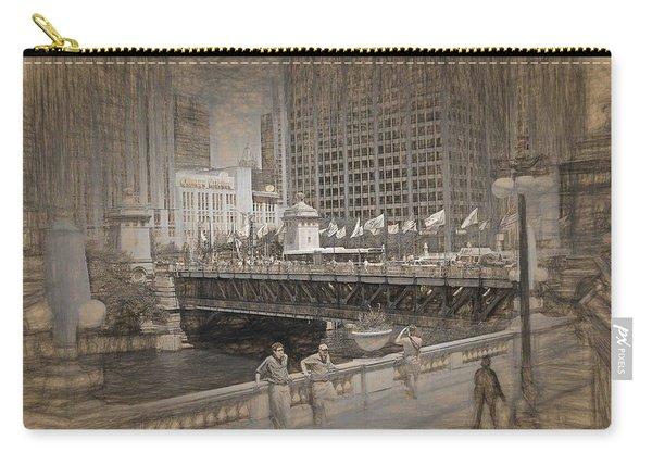Chicago Dusable Bridge Street Scene Carry-all Pouch