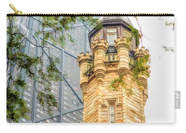 Chicago Historic Water Tower Fog Carry-all Pouch
