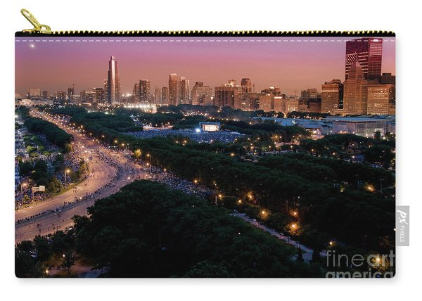 Chicago Independence Day At Night Carry-all Pouch