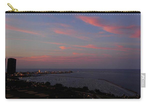 Chicago Lakefront At Sunset Carry-all Pouch