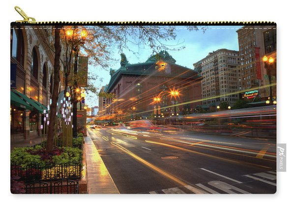 Chicago Lights Hustle Bustle Carry-all Pouch