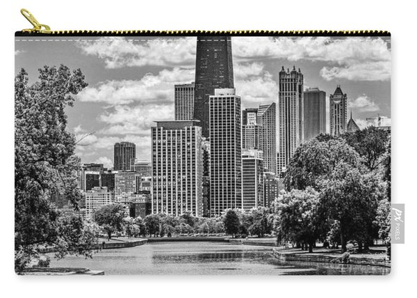 Chicago Lincoln Park Lagoon Black And White Carry-all Pouch