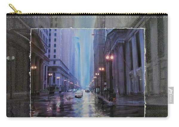 Chicago Rainy Street Expanded Carry-all Pouch