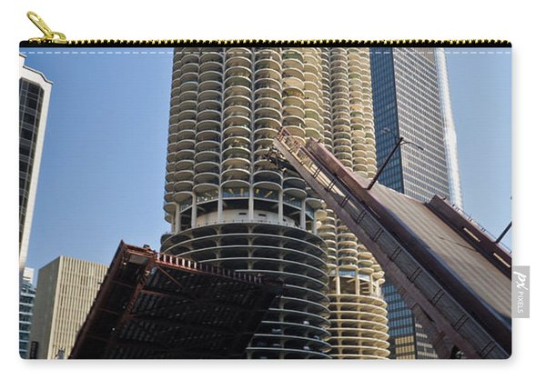 Chicago River Bridge Lift At Marina Towers Carry-all Pouch