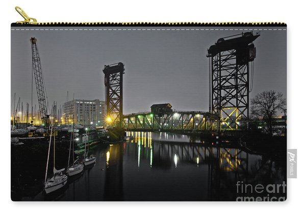 Chicago River Scene At Night Carry-all Pouch