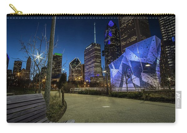 Chicago Skyline Form Maggie Daley Park At  Dusk Carry-all Pouch