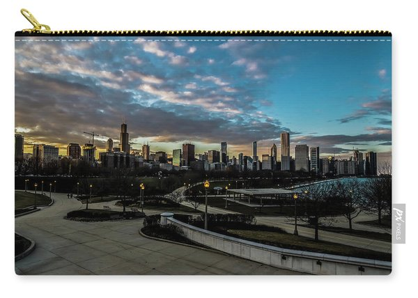 Chicago Skyline From The Museum Campus Carry-all Pouch