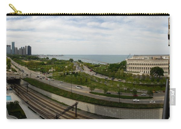 Chicago Skyline Showing Monroe Harbor Carry-all Pouch