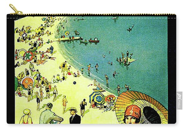 Chicago, Vacation City, Areal View On The Beach Carry-all Pouch