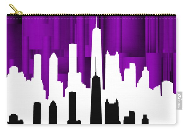 Chicago Violet In Negative Carry-all Pouch