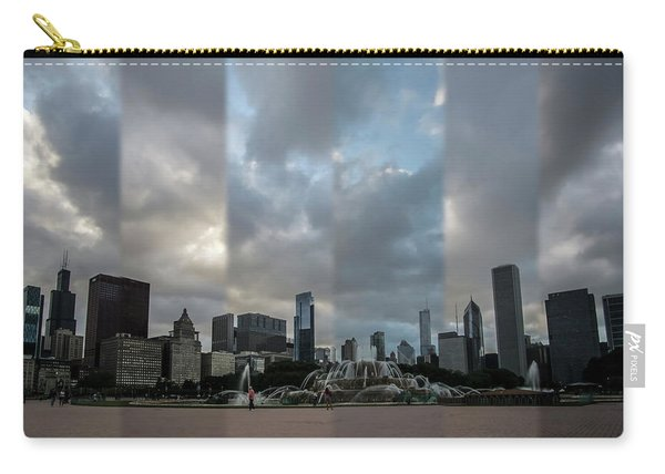 Chicago's Buckingham Fountain Time Slice Photo Carry-all Pouch
