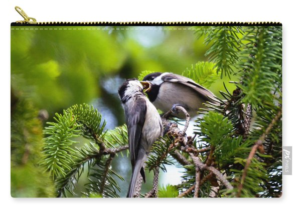 Chickadee Feeding Time Carry-all Pouch