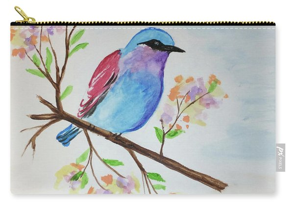 Chickadee On A Branch Carry-all Pouch