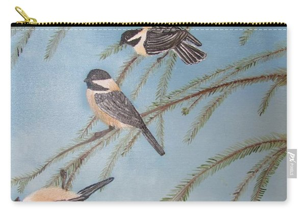 Chickadee Party Carry-all Pouch
