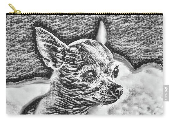 Chihuahua Black And White Pica Carry-all Pouch