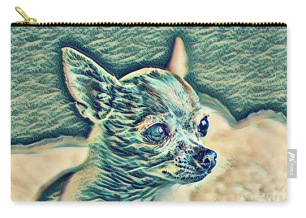Chihuahua Blue Pica Carry-all Pouch
