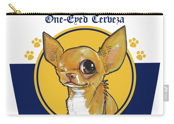 Chihuahua One-eyed Cerveza Carry-all Pouch