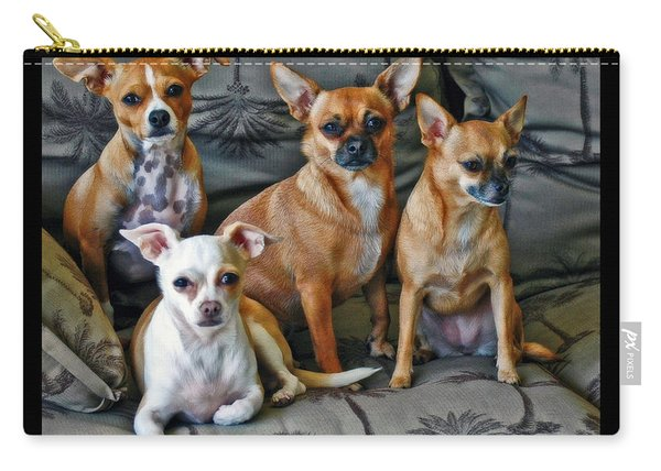 Chihuahuas Hanging Out Carry-all Pouch