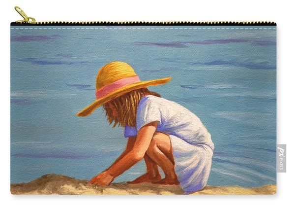 Child Playing In The Sand Carry-all Pouch