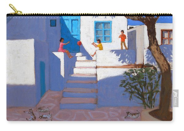 Children And Cats, Mykonos Carry-all Pouch