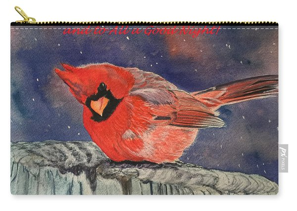 Chilly Bird Christmas Card Carry-all Pouch