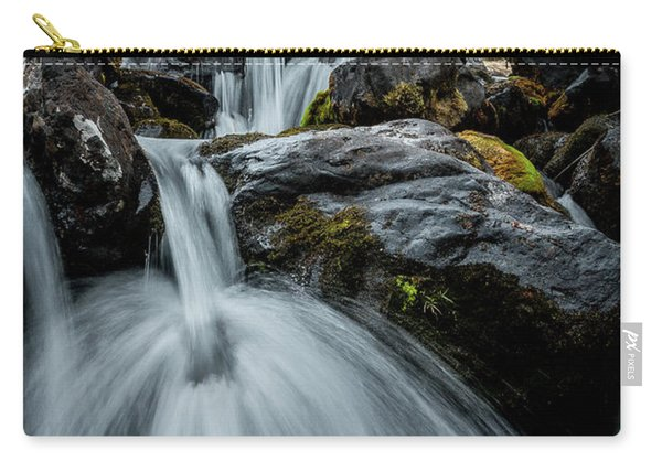 Carry-all Pouch featuring the photograph Chilly Spring Shower by Tim Newton