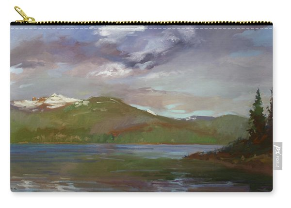 Chimney Rock  At Priest Lake  Plein Air Carry-all Pouch