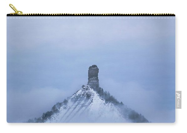 Carry-all Pouch featuring the photograph Chimney Rock Rising by Jason Coward