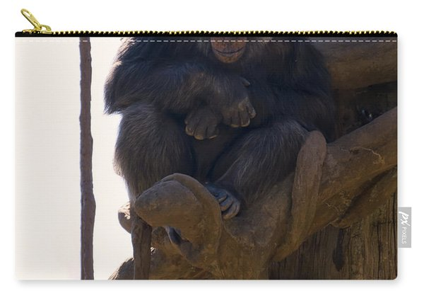 Chimpanzee In A Tree Carry-all Pouch