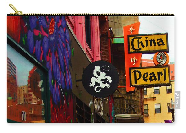 China Pearl Sign, Chinatown, Boston, Massachusetts Carry-all Pouch