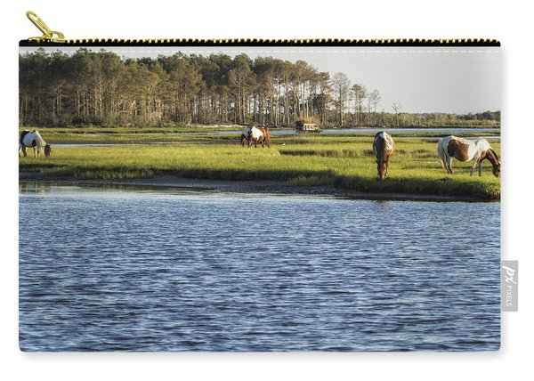 Chincoteague Ponies On Assateague Island Carry-all Pouch