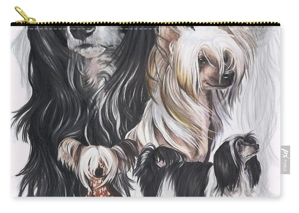 Chinese Crested And Powderpuff Medley Carry-all Pouch