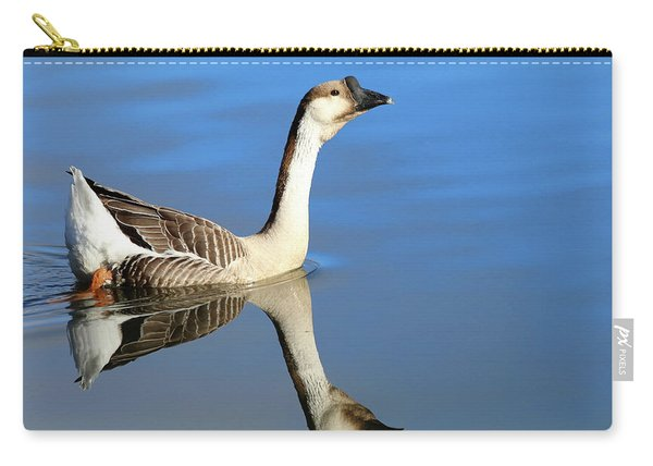 Chinese Goose In Blue Waters Carry-all Pouch
