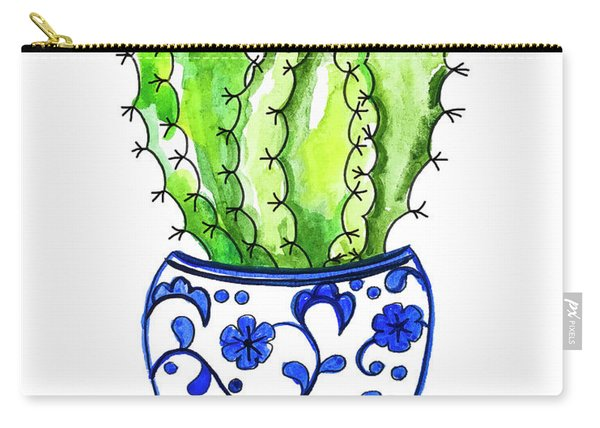 Chinoiserie Cactus No3 Carry-all Pouch