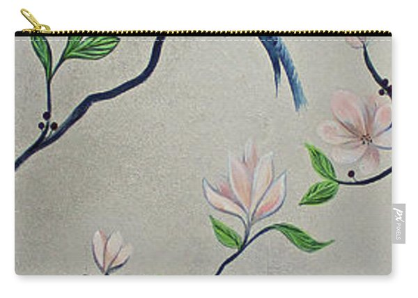 Chinoiserie - Magnolias And Birds #4 Carry-all Pouch