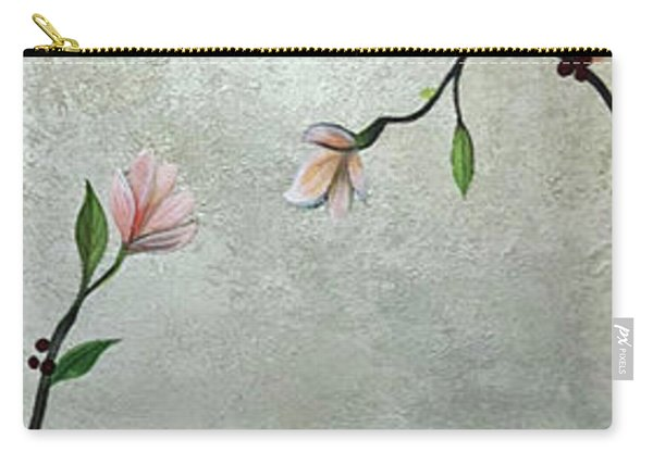 Chinoiserie - Magnolias And Birds Carry-all Pouch
