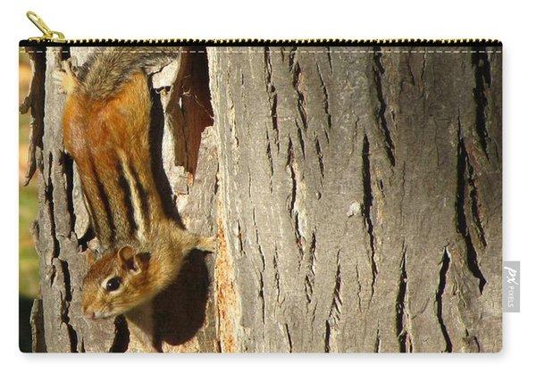Chipmunk In Fall Carry-all Pouch