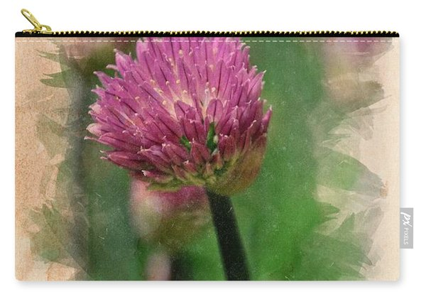 Chive Blossoms In June Carry-all Pouch