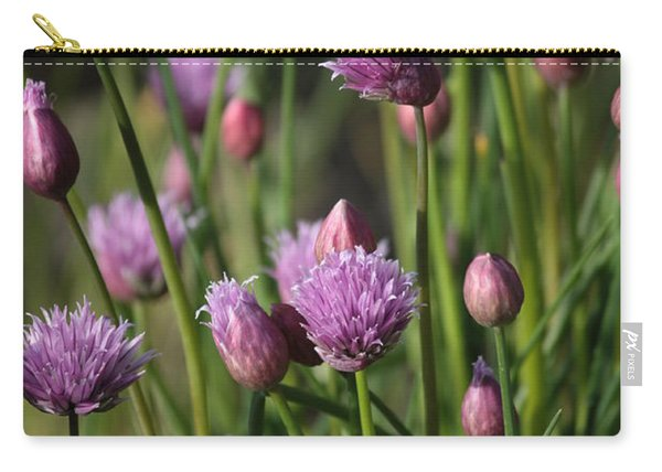 Chive Flowers Carry-all Pouch