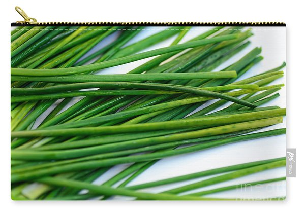 Chives By Kaye Menner Carry-all Pouch