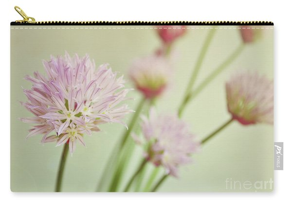 Chives In Flower Carry-all Pouch