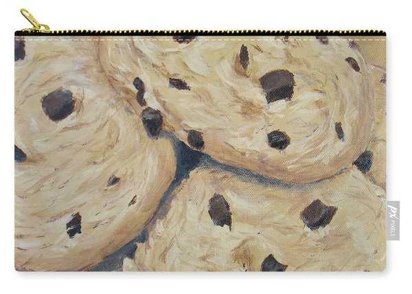 Carry-all Pouch featuring the painting Chocolate Chip Cookies by Nancy Nale