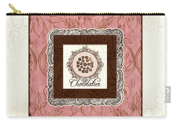 Chocolatier - Plate Of Handmade Chocolate Candies Carry-all Pouch
