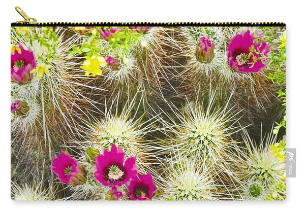 Cholla Cactus Blooms Carry-all Pouch