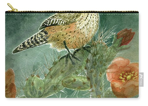 Cholla Cactus Wren Carry-all Pouch