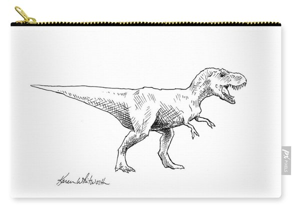 Tyrannosaurus Rex Dinosaur T-rex Ink Drawing Illustration Carry-all Pouch