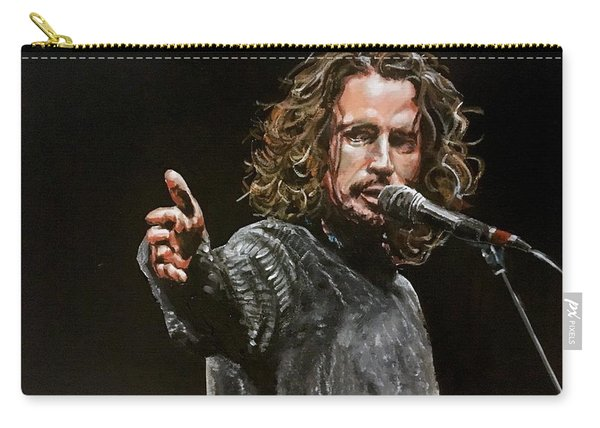 Carry-all Pouch featuring the painting Chris Cornell by Joel Tesch